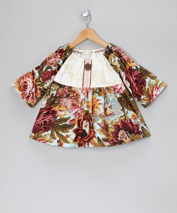 Rose Early Harvest Peasant Top - Toddler & Girls