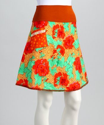 Burnt Orange Ming Skirt - Women