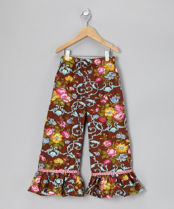 Rose Garden Ruffle Pants - Toddler & Girls