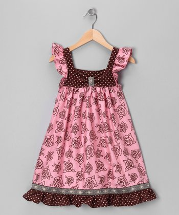 Pink Simply Rose Dress - Toddler & Girls