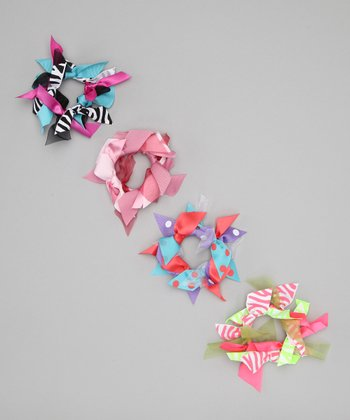 Neon Ribbon Hair Tie Set