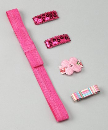 Baby Pink Clippies & Headband Set