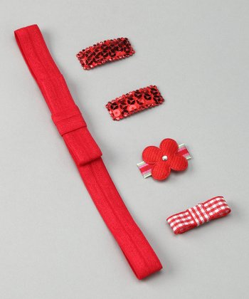 Baby Red Clippies Set