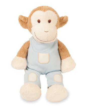 Blooming Sprouts Monkey in Blue Plush Toy