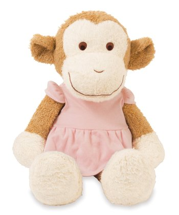 Blooming Sprouts Monkey in Pink Plush Toy