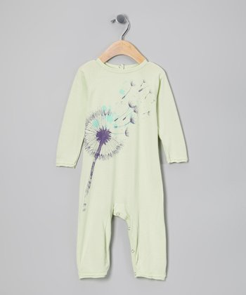 Waterfall Green Dandelion Organic Playsuit - Infant