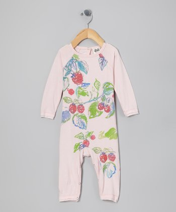 Pink Mist Berry Patch Organic Playsuit