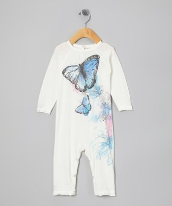 White Morpho Organic Playsuit