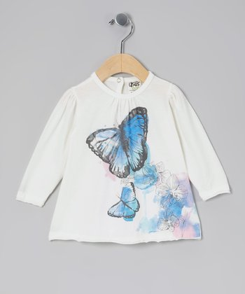 White Morpho Organic Tee - Infant