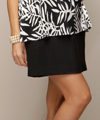 Debbi O. Black Bebe Maternity Skirt