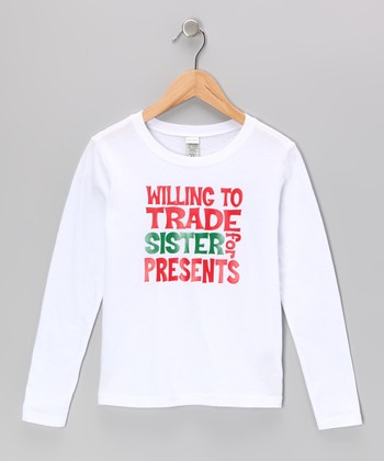 White 'Trade Sister for Presents' Tee - Infant, Toddler & Boys
