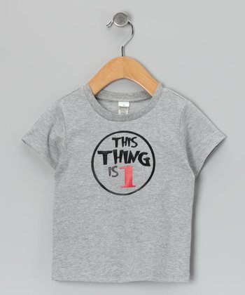 Gray 'This Thing' Personalized Tee - Infant, Toddler & Boys