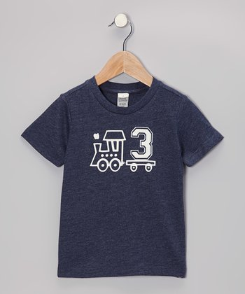 Navy Train Personalized Number Tee - Infant, Toddler & Boys