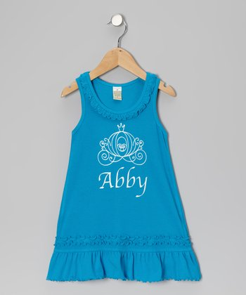 Island Blue Carriage Personalized Dress - Infant, Toddler & Girls