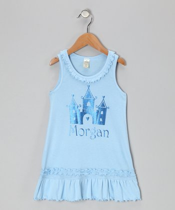 Baby Blue Personalized Castle Dress - Infant, Toddler & Girls