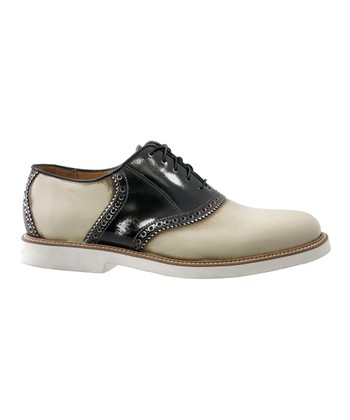 Ivory & Black Prep Saddle Shoe