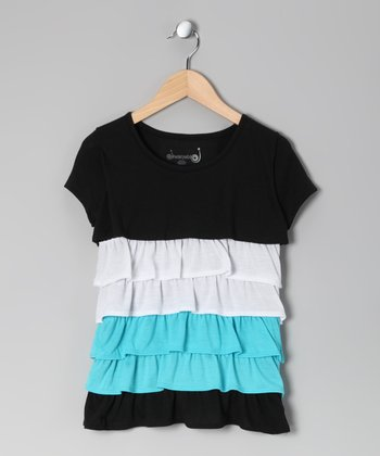 Black Color Block Top - Toddler & Girls
