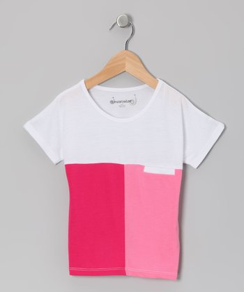 Fuchsia & Pink Color Block Top - Toddler & Girls
