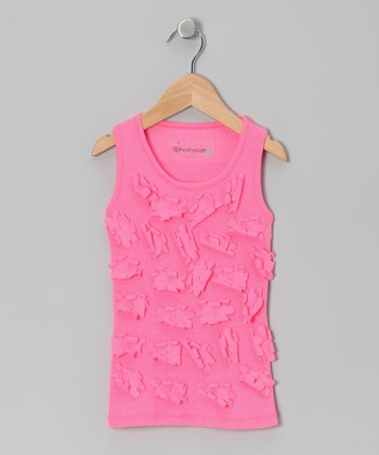 Hot Pink Daisy Tank - Toddler & Girls