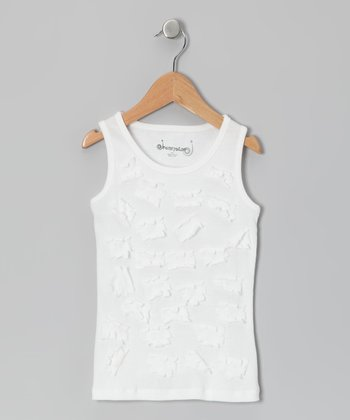 White Daisy Tank - Toddler & Girls