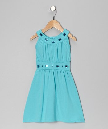 Turquoise Jewel Dress - Toddler
