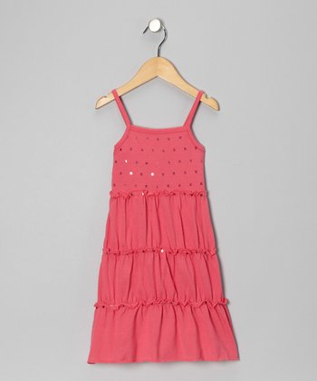Hot Pink Sequin Sundress - Toddler