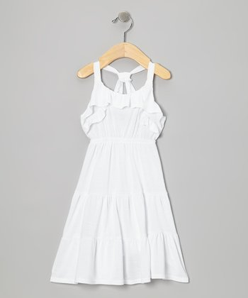 White Ruffle Sundress - Toddler