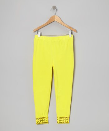 Lemon Sequin Leggings - Toddler & Girls
