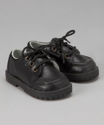 Black Lace-Up Shoe - Infant & Toddler