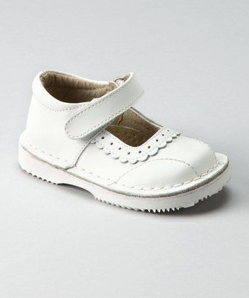 White Velcro Mary Jane - Toddler & Girls