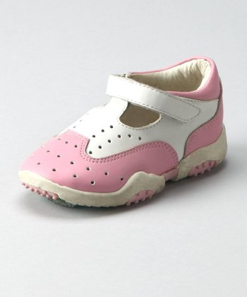 Pink & White Sneaker - Toddler & Girls