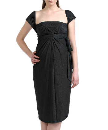 Black Avery Maternity Infinity Wrap Dress