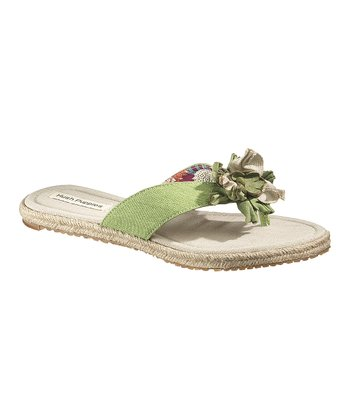 Green Judette Toe Post Flip-Flop - Women