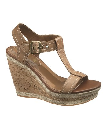 Tan Renown T-Strap Wedge - Women