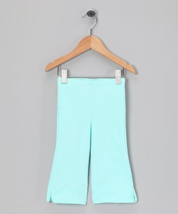 Light Blue Organic Capri Pants - Toddler & Girls