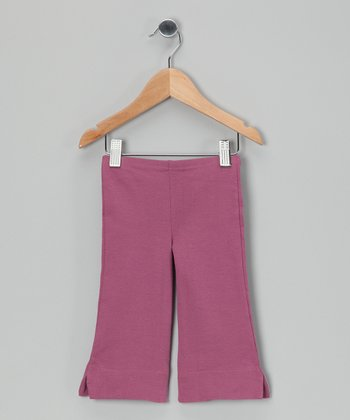 Purple Organic Capri Pants - Toddler & Girls