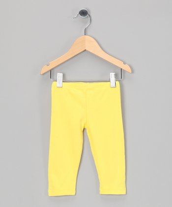 Yellow Organic Leggings - Toddler & Girls