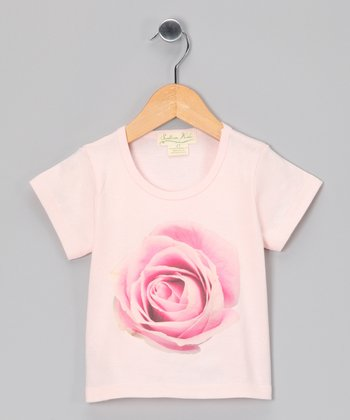 Pink Rose Organic Tee - Toddler & Girls