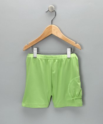 Lime Tennis Ball Shorts - Girls