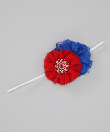 Patriotic Lace Flower Headband