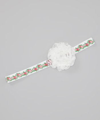 Red & Green Spring Rose Headband