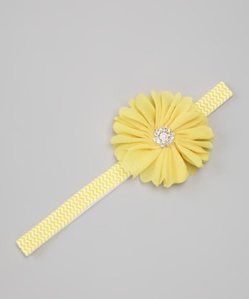 Yellow Blossom Zigzag Headband