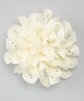 Ivory Flower Clip/Pin