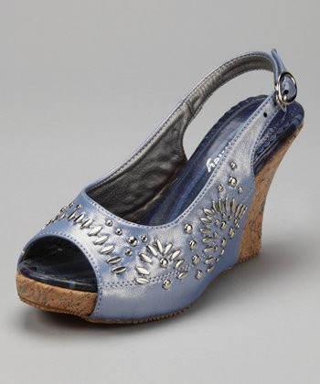Turquoise Blue Cypress Wedge