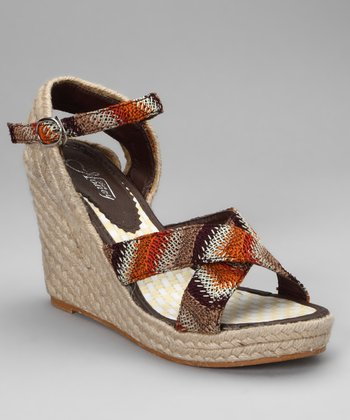 Red & Brown Nicky Espadrille