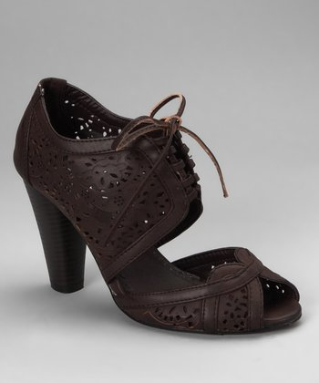 Coffee Oakley Peep-Toe Pump