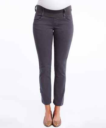 Granite Under-Belly Maternity Cropped Skinny Jeans