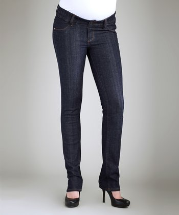 Dark Blue Under-Belly Maternity Skinny Jeans