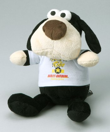 Skull Dog Bean Bag Plush Toy
