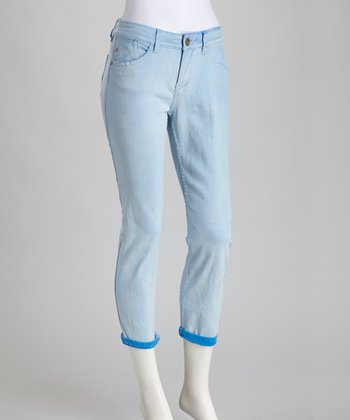 Crystal Blue Billie Cropped Jeans